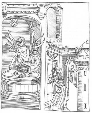 D'après un burin du Moyen-Age, Histoire de Mélusine
