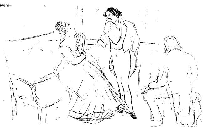 III-2 B d' A Un salon littéraire en 1880 par Degas