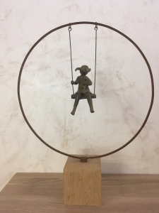 Balançoire, sculpture de Brigitte Boucher, Paris , exposition 2018