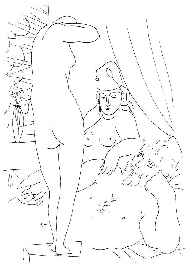 D'après Picasso, suite Vollard, eaux-fortes.