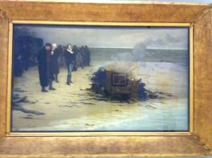 Le bûcher du poète Shelley, pae L. E. Fournier 1889